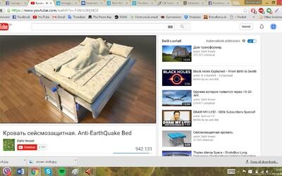 Posteľ, ktorá by ti v prípade zemetrasenia zachránila život. Jednoducho by si sa prepadol do jej útrob