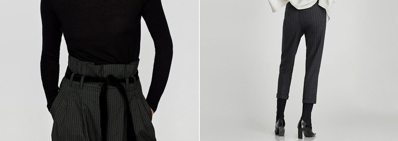 Postranný pásik na nohaviciach nahrádza ich súvislý rad. Prúžkované nohavice sú horúcim trendom do chladnejšej jesene