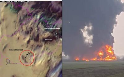 Požiar haly v Šuranoch bolo vidieť z vesmíru. Hasiči s ohňom bojovali aj v noci