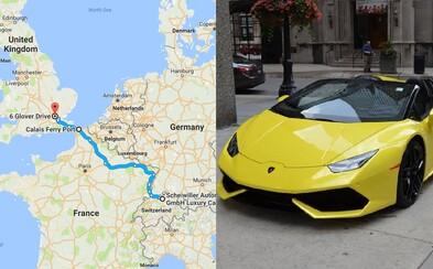 Půjčila si Lamborghini za více než 7 milionů korun a od té doby už ji nikdo neviděl. Neznámá žena měla falešnou občanku