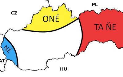 Pozreli sme sa na mapu Slovenska z pohľadu typických Slovákov. V koľkých sa vidíš?
