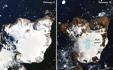 Podívej se, jak vypadá Antarktida po rekordním teple na začátku února