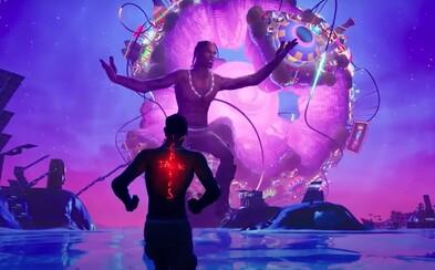 Užij si koncert Travise Scotta ve Fortnite, hudebně grafická genialita 21. století nabírá nový význam