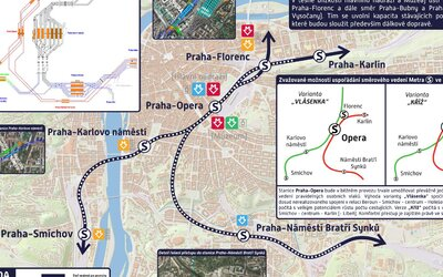 Praha dostane metro S – podzemní vlakovou dráhu. Nové stanice protnou Florenc, Operu, Karlovo náměstí i Bratří Synků