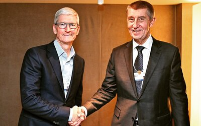 Praha dostane vlastní Apple Store. Tim Cook to slíbil Andreji Babišovi