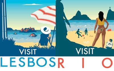 Pravdivé turistické plagáty známych svetových destinácií. Zabudni na idylku z fotografií a prispôsob sa realite
