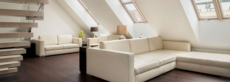 Pražská sofistikovanost v podobě dvoupodlažního bydlení s nezaměnitelným výhledem