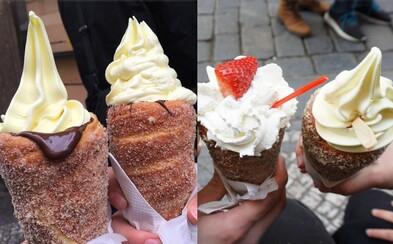 Pražská zmrzlina v trdelníku se stala světovým hitem na Instagramu. Sliny z ní se začnou sbíhat i tobě