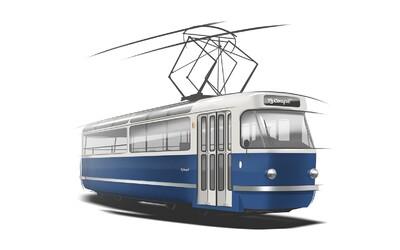 Pražské ulice bude možná brázdit nová party tramvaj. Uvnitř najdeš bar i taneční parket