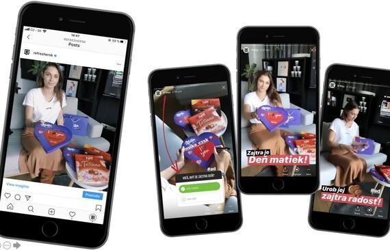 Pre Domino's a Milku sme vytvorili Instagram Stories. Naše kreatívne kampane dosiahli desaťtisíce videní