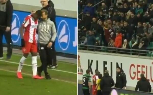Pryč s nacisty, křičeli fotbaloví fanoušci na rasistu, který vydával opičí zvuky na hráče tmavé pleti