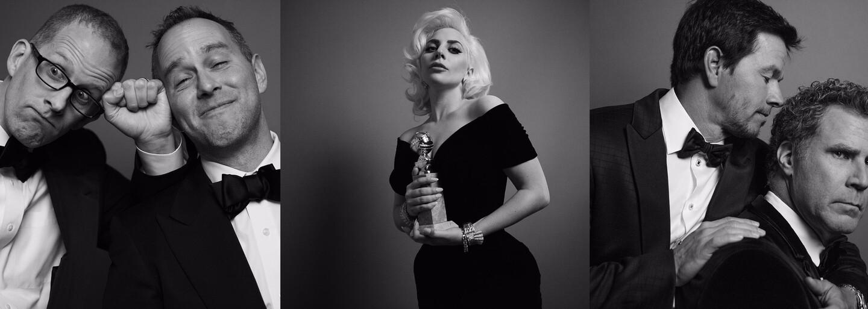 Precítené čiernobiele fotografie hviezd zo zákulisia Zlatého glóbusu. Nechýba Stallone či Matt Damon