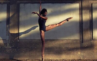 Precítené fotografie tanečníkov v mestskom prostredí