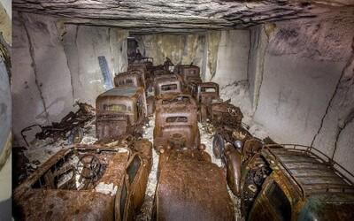 Před 70 lety je skryli před nacisty. Zapomenuté vozy ve francouzském lomu se podařilo objevit úplnou náhodou