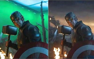 Pred a po CGI: 30 obrázkov, ktoré odhaľujú pravú tvár Avengers: Endgame a ako to vyzeralo na natáčaní