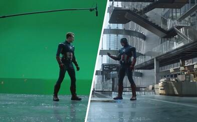 Pred a po CGI: Ako vznikol súboj Captaina Americu so svojím mladším ja?