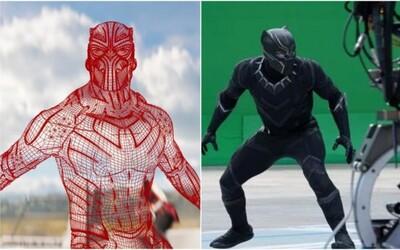 Pred a po pridaní CGI v Black Pantherovi. Natáčanie komiksovky by si v porovnaní s výsledným filmom pravdepodobne nespoznal