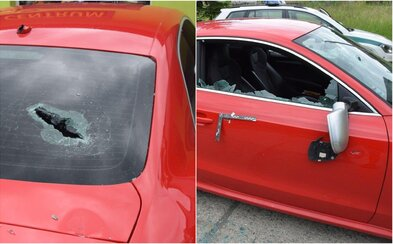 Pred barom v Hriňovej niekto rozsekal luxusné Audi RS5 sekerou. Páchateľ spôsobil škodu za 10 000 eur