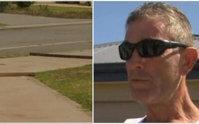 """Před mým domem ne! Rozzlobený soused si vyrobil vlastní """"zpomalovač"""" na chodník, aby mu tam neběhaly děti"""
