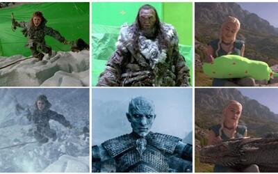 Před po přidání CGI počítačových efektů: Game of Thrones speciál