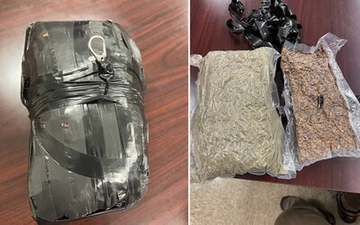 Před školu spadl balíček plný drog, který vezl dron do věznice. Pašeráci se snažili vězňům doručit i nabíječku na iPhone