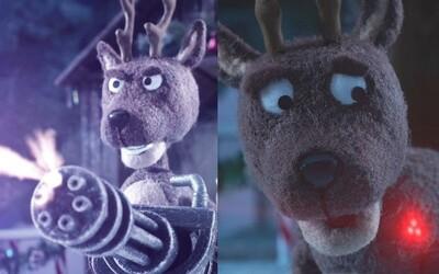 Predátor vo vianočnom animovanom kraťase rozstrieľa nevinného soba. Ďalším na rade bude Santa Claus