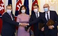 Predsedovia strán podpísali koaličnú zmluvu, Andrej Kiska sa slávnostnej ceremónie nezúčastnil