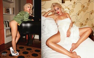 Překrásná Rita Ora se kompletně svlékla, aby předvedla svoji výstavní figuru na svůdných záběrech