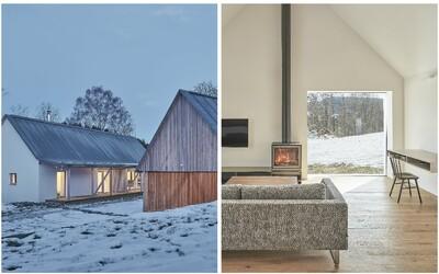 Překrásné prostředí Vysočiny jako pozadí útulného domu s interiérem plným dřeva a skandinávské čistoty