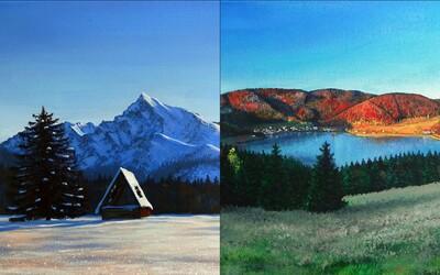 Prekrásne Slovensko spolu s ďalšími fantazijnými maľbami videnými štetcom Slováka vás určite upútajú