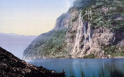 Prenádherná nórska príroda plná fjordov, lesov a zátok na historických záberoch z konca 19. storočia