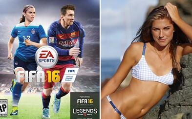 Přepisuje se historie. Na obalu FIFA 16 se po boku Messiho objeví Alex Morgan a další dvě fotbalistky