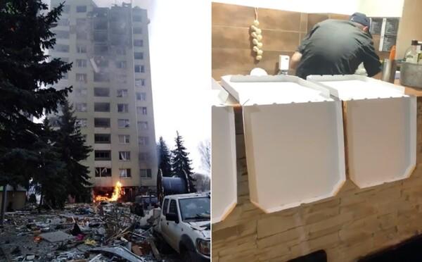 Lidé z Prešova pomáhají obětem výbuchu, jak jen mohou: Majitelé donášek rozdávají jídlo, taxíky zdarma svážejí věci od obyvatel