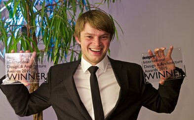 Prestižní ocenění Design & Architecture Awards 2015 získal i 23letý Čech, a to hned ve dvou kategoriích