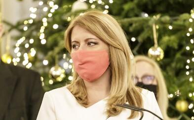Prezidentka Čaputová: Silvestrovská noc vo veľkej miere určí epidemiologickú situáciu najbližších dní a týždňov