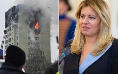 Prezidentka Zuzana Čaputová věnovala obětem exploze v Prešově 5 000 eur a poskytla ubytování, počet obětí bude ještě růst