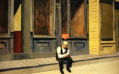 Pridané ikony sociálnych sietí menia maľby na extrémne smutné