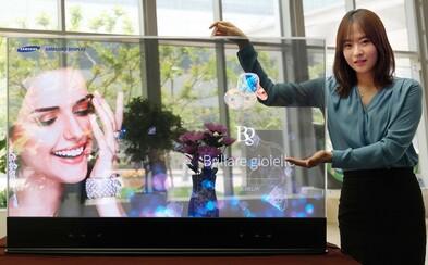 Priehľadné OLED displeje sú vďaka Samsungu skutočnosťou