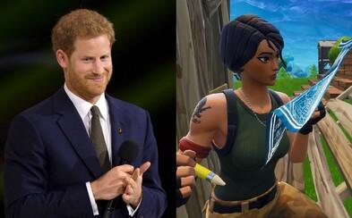 Princ Harry chce zakázat Fortnite. Je prý víc návykový než drogy