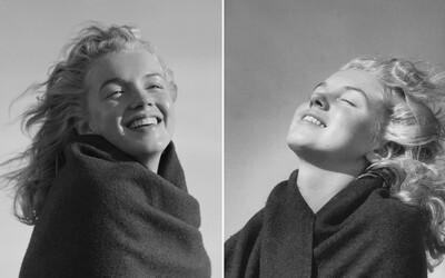 Prirodzene krásna Marilyn Monroe zachytená na nezvyčajných fotografiách v dobe, kedy ešte nebola známa