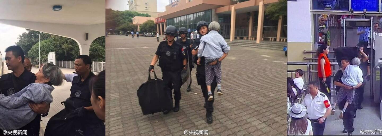 Príslušník čínskeho tímu SWAT zobral nemohúcu babičku na ruky a odniesol ju až do vlaku. Zabudla si preukaz a bez neho by to nezvládla