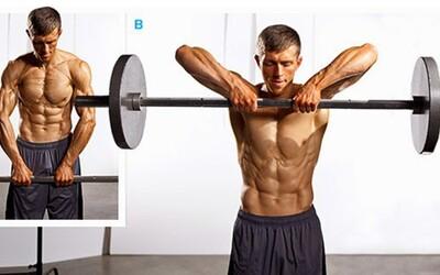 Príťahy činky k brade, alebo cvik na ramená, ktorý by si mal z tréningu vyradiť!