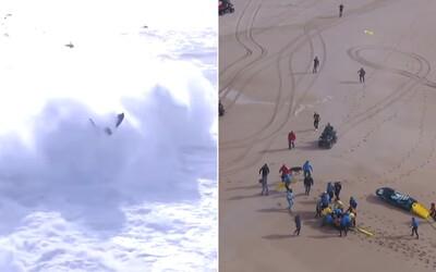 Profesionálního surfaře smetla obrovská vlna. Ihned ho museli převézt do nemocnice