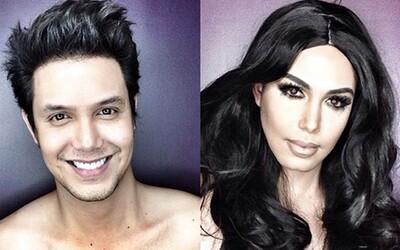 Profesionálny makeup umelec sa mení na ženské celebrity