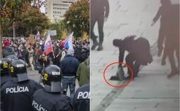 Protest proti Matovičovi: Demonštranti sa navzájom zranili zápalnou pyrotechnikou, žene vraj niekto hodil do hlavy dlažobnú kocku