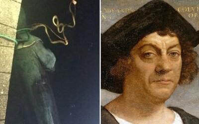 Protestující svalili sochu Kryštofa Kolumba. Reprezentovala podle nich genocidu