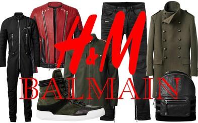Prvé fotky pánskej ponuky H&M x Balmain sú vonku!