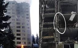 První fotky z místa exploze plynu na Slovensku zachycují rozpadající se panelák i lidi na balkonech ve snaze zachránit se