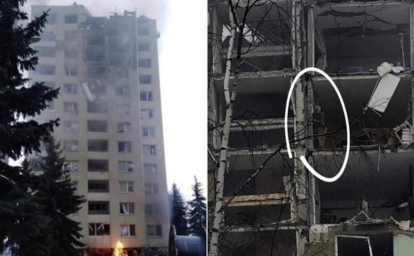 Prvé fotky z miesta explózie plynu v Prešove zachytávajú rozpadajúci sa panelák aj ľudí na balkónoch v snahe zachrániť sa
