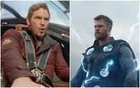 První fotky z natáčení Thor: Love & Thunder. Thor a Star-Lord mají nové kostýmy i účesy